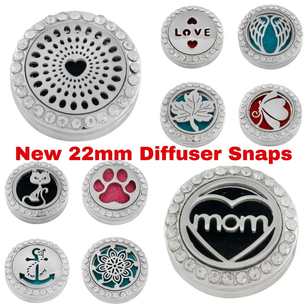 These diffusers connect to a snap jewelry base.  Snap jewelry bases are interchangeable. Purchase one piece of snap jewelry and interchange the snaps on it.  Just add perfume or essential oils to this diffuser on a necklace, bracelet or ring base and you'll have fragrance for hours.  Follow my blog for up-to-date additions to my site. https://snapjewelryonabudget.blogspot.com/