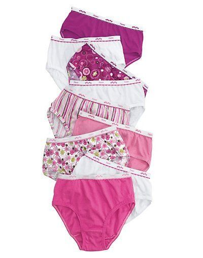 28776fe53f84 Hanes Girls' No Ride Up Cotton Low Rise Assorted Colors Panties Briefs 9- Pack #Hanes #Briefs