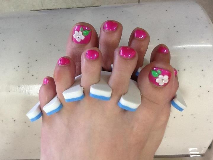 3d Toes Nails Designs Uas Padres Pinterest Toe Nail Designs