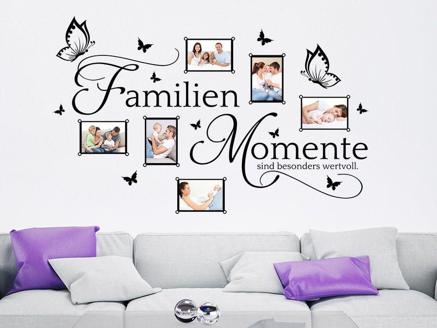 bilderrahmen familien momente wandtattoo familie fotorahmen und wandtattoo. Black Bedroom Furniture Sets. Home Design Ideas