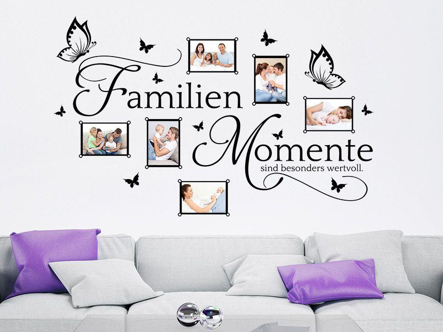 Bilderrahmen Familien Momente Wandtattoos WohnzimmerWandtattoo