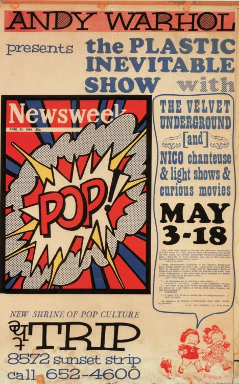 Andy Warhol presents The Plastic Inevitable Show, May 1966/67.