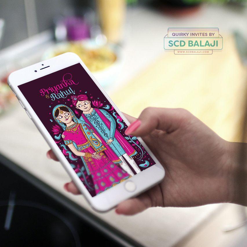 Creative Punjabi Wedding einvite   invitation   card designed and - fresh wedding invitation card on whatsapp