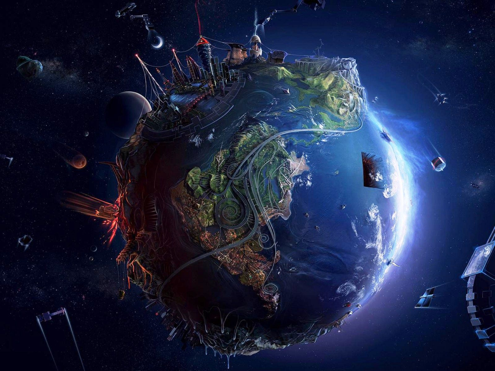 Wallpapers Earth Future Hd Nupe Free X