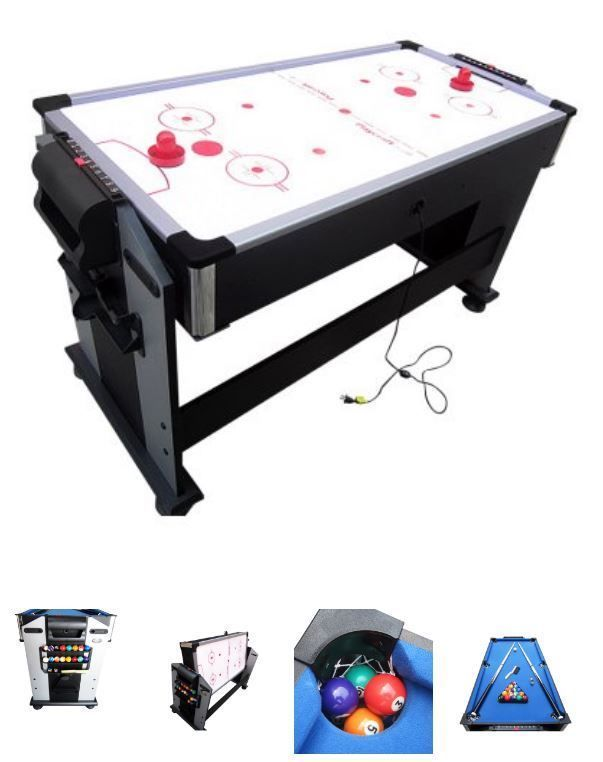 Junior 2 In 1 Air Hockey And Pool Table Billiard Game Small Balls