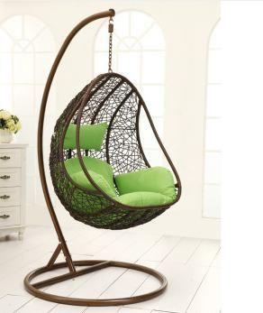 Steel Rattan Hanging Chair,Water Curtain Cave Shape Size:120*80*
