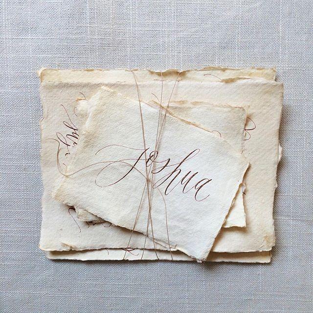 Loving the delicate edges of this tea stained @silkandwillow paper #handmade #paper #littledetails