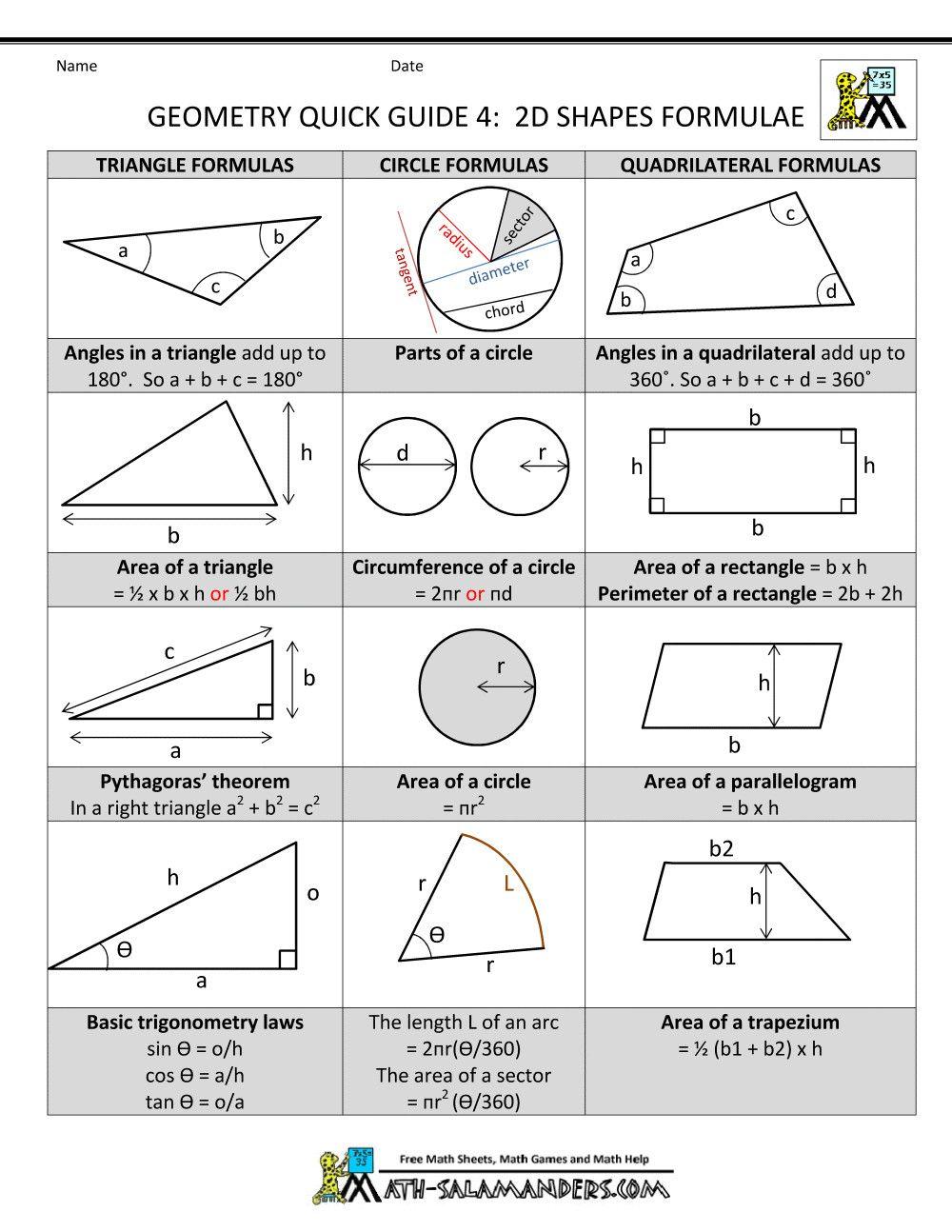 7 area and Perimeter Quiz in 2020   Math worksheets [ 1294 x 1000 Pixel ]