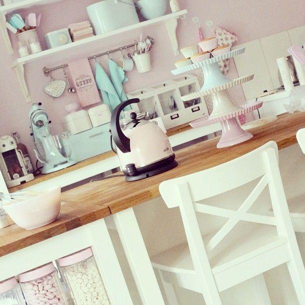 Küche Wand Küche Pinterest Wände, Küche und Pastell - kuche blaue wande