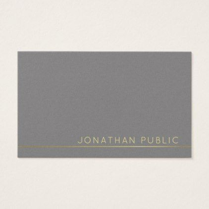 Trending Modern Elegant Grey Pearl Finish Luxury Business Card Gifts Unique Special Diy Cyo