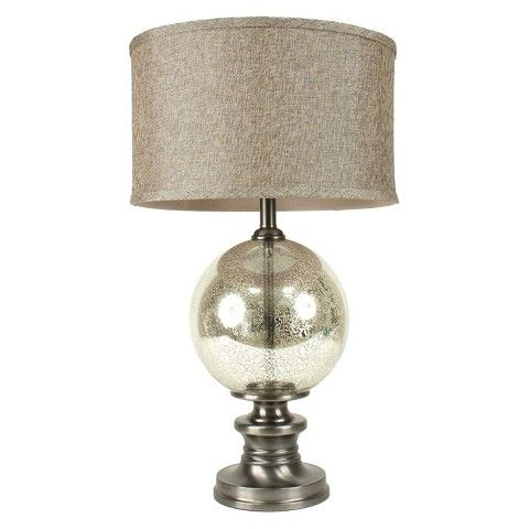 Nickel & Silver Mercury Glass Table Lamp - Target - $149.99