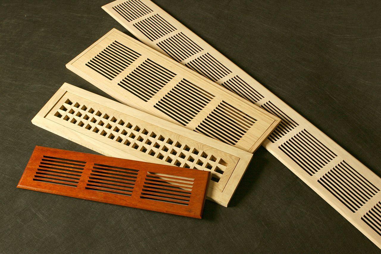 Custom Wood Registers, Air Returns, and Baseboards