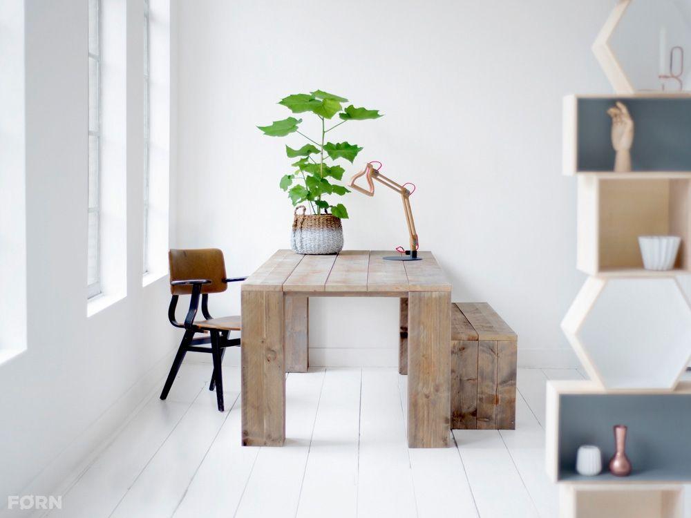Bauholz Tisch Alba Küche Wohnzimmer Wohnideen Büro Garten - bilder für küche und esszimmer