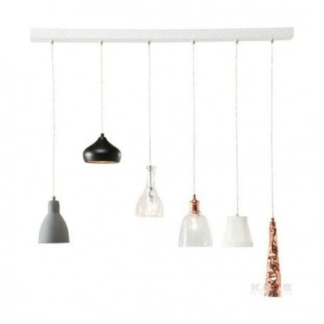 Photo of Suspension linéaire Shades Dining 6L multicouleur – Kare Des…
