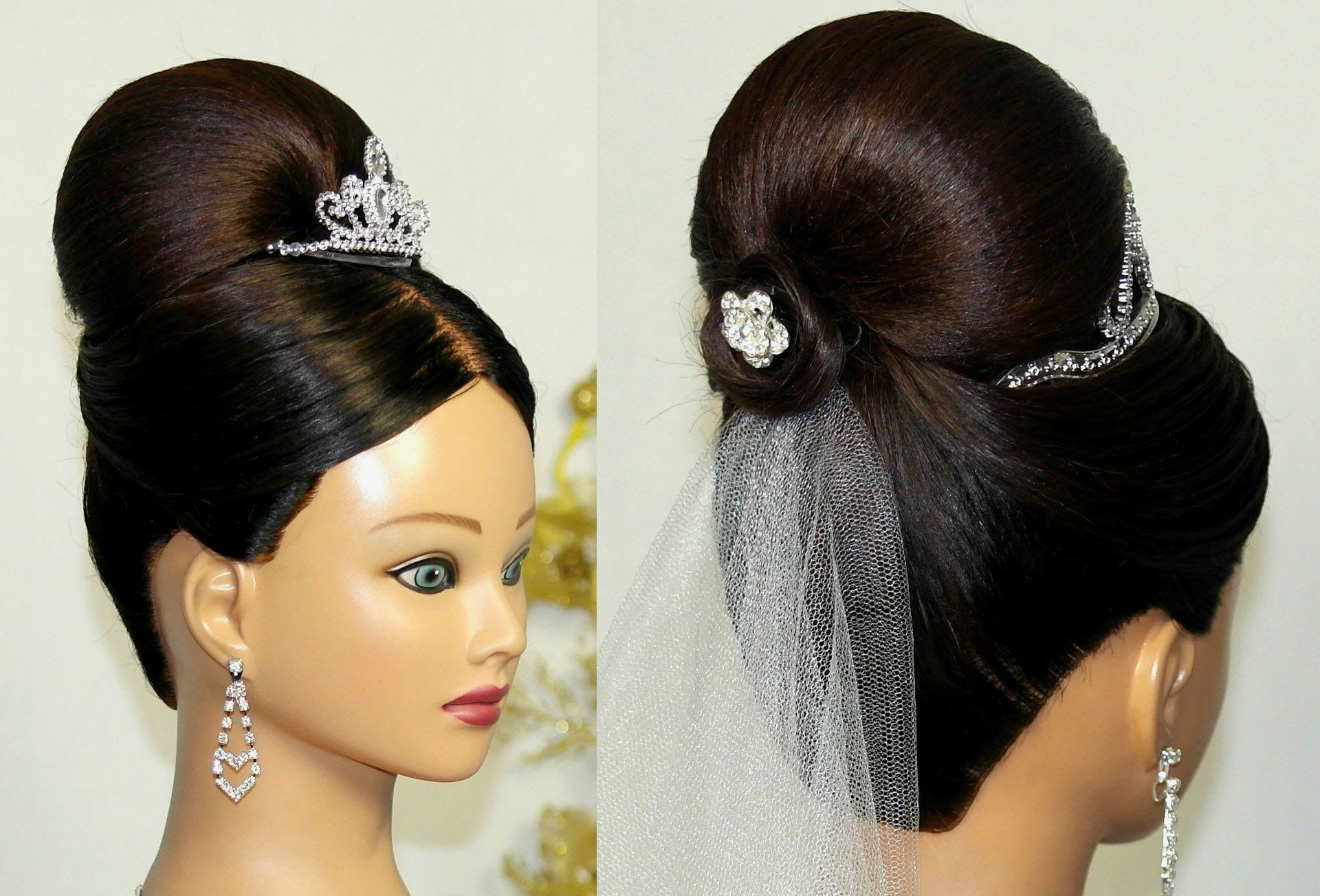 Bridal Updo Bun Hairstyle For Medium Long Hair That Nice For Me - Hairstyle bun videos