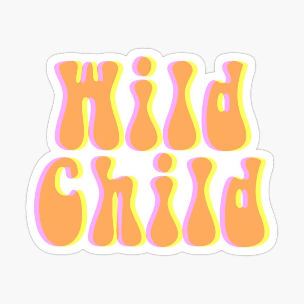 Wild Child Hippy Font Sticker Sticker By Yellowwpaint In 2020 Hippie Font Hippie Wallpaper Wild Child
