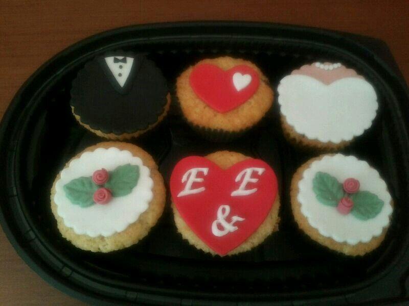 Cupcakes para los invitados de una boda!!
