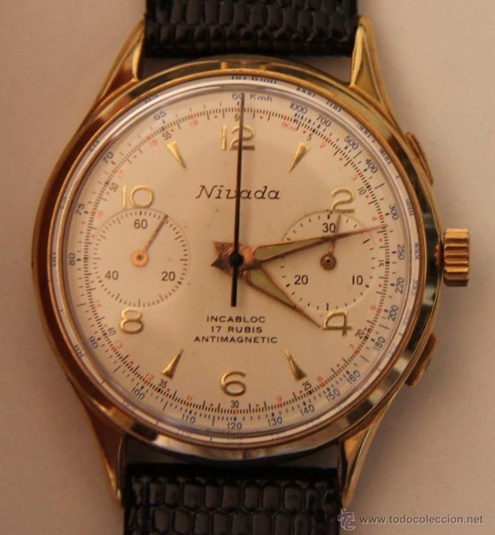 precio de calle captura comprar bien Reloj de pulsera Nivada cronógrafo de carga manual / Relojes ...