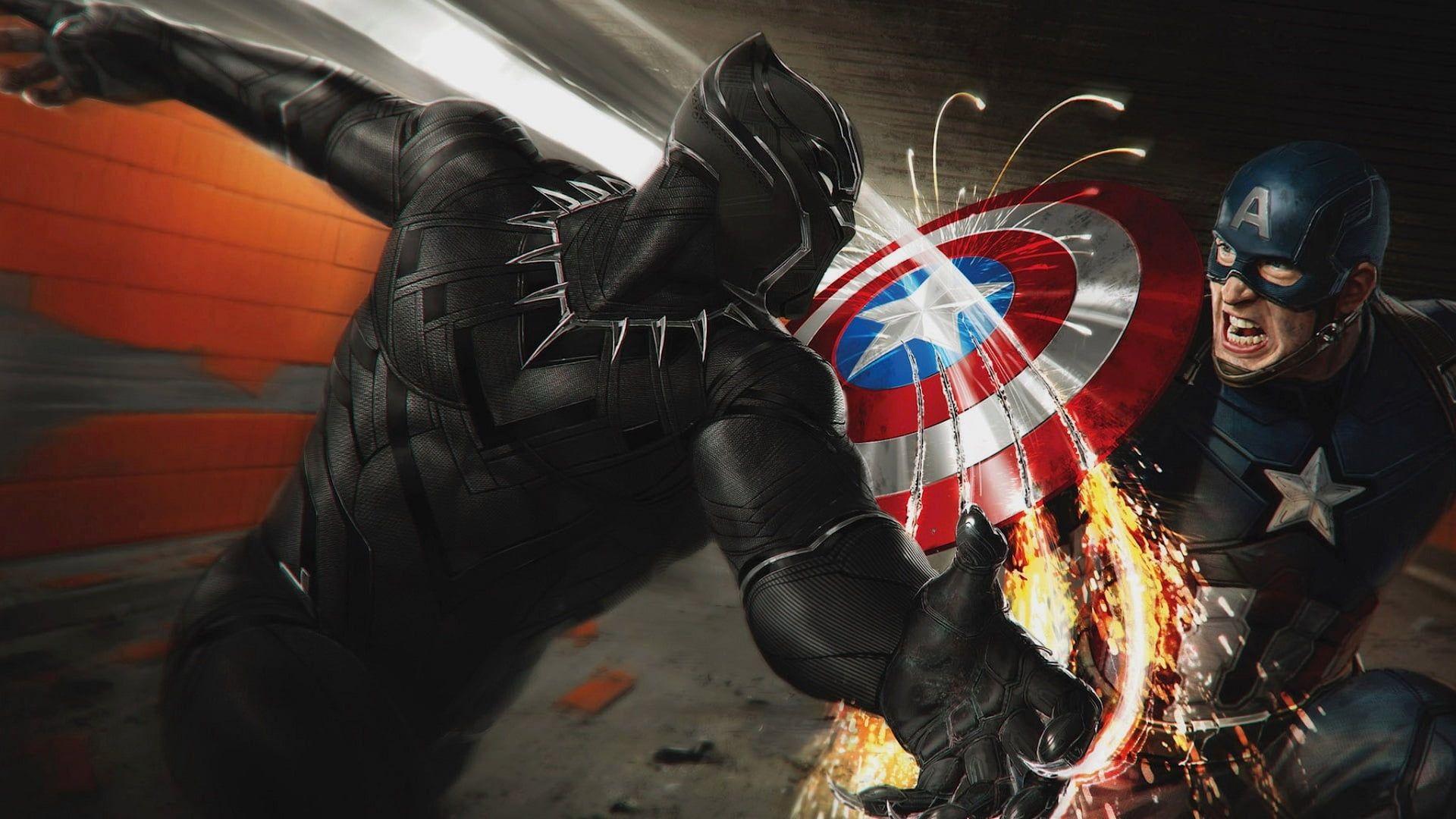 Captain America Illustration Marvel Black Panther Vs Captain America P Captain America Illustration Black Panther Marvel Wallpapers Black Panther Hd Wallpaper