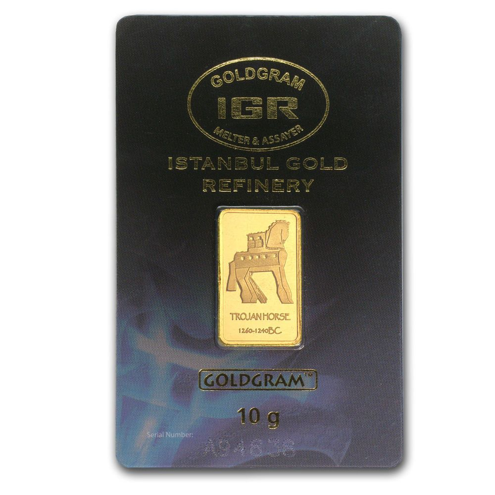 10 Gram Gold Bar Istanbul Gold Refinery Trojan Horse In Assay Sku 78366 Gold Goldbar Gold Bars For Sale Gold Bar Trojan Horse