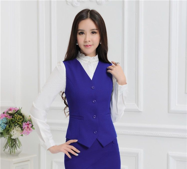 Click to Buy << Novelty Blue Formal Uniform Style Professional ...