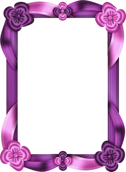 purple and pink transparent photo frame