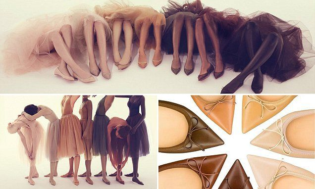 ef1fa9cb2 Designer Christian Louboutin has solved the 'nude' colour issue by  launching a collection of ballet flats in shades to suit all skin tones.