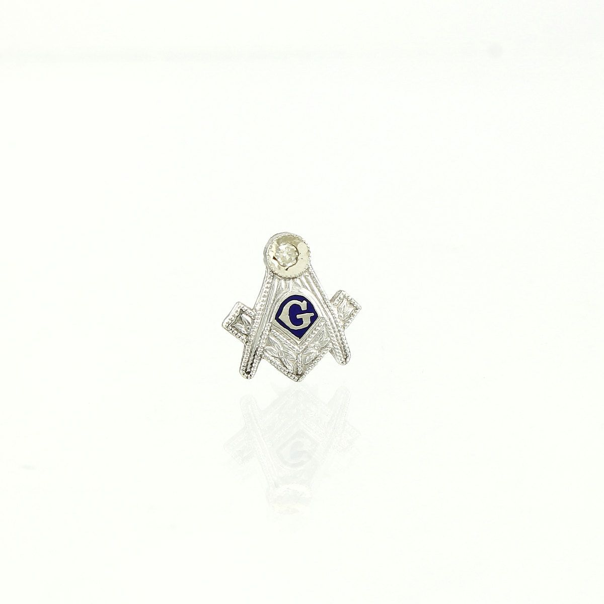 Masonic Pin - 14K Gold & Diamond Vintage | Vintage Masonry