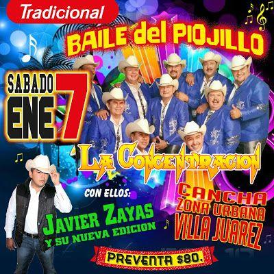 GRUPO MUSICAL LA CONCENTRACION: Este Sábado 7 de Enero será el primer baile del Pi...