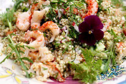Resepti: Ravunpyrstöquinoa| Ruokala.net
