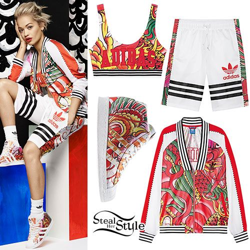 "5821e07f612 The Adidas Originals by Rita Ora SS15 ""Dragon Pack"" was released yesterday.  Rita's"