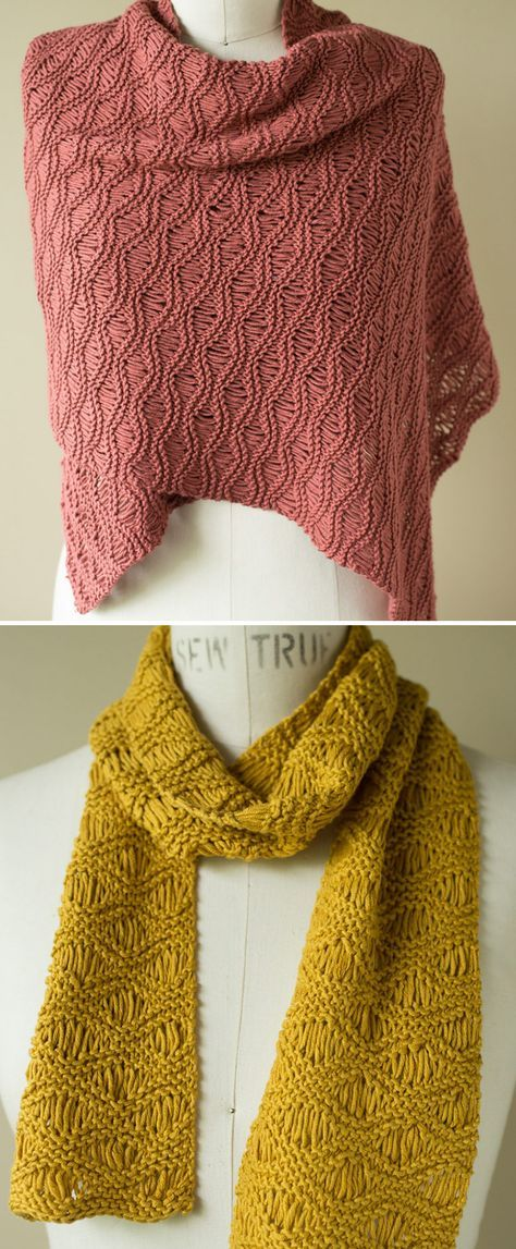 Free Knitting Pattern For Seafoam Scarf Wrap Classic Dropped
