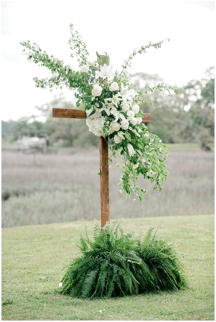Wedding decorations trees with lights october 2018 ceremony floral cross outdoor wedding edisto island cypress