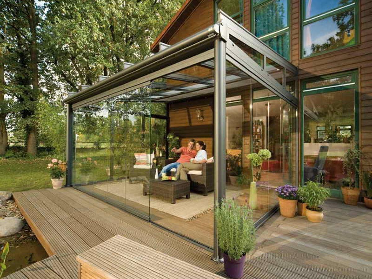 Wonderful Small Bright And Modern Patio Glass Design Ideas