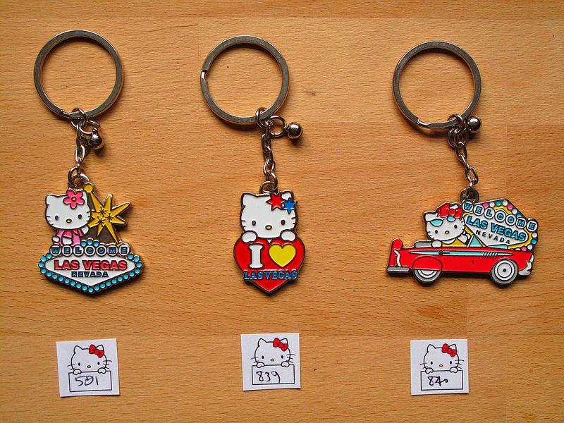 Hello Kitty Las Vegas Key Rings