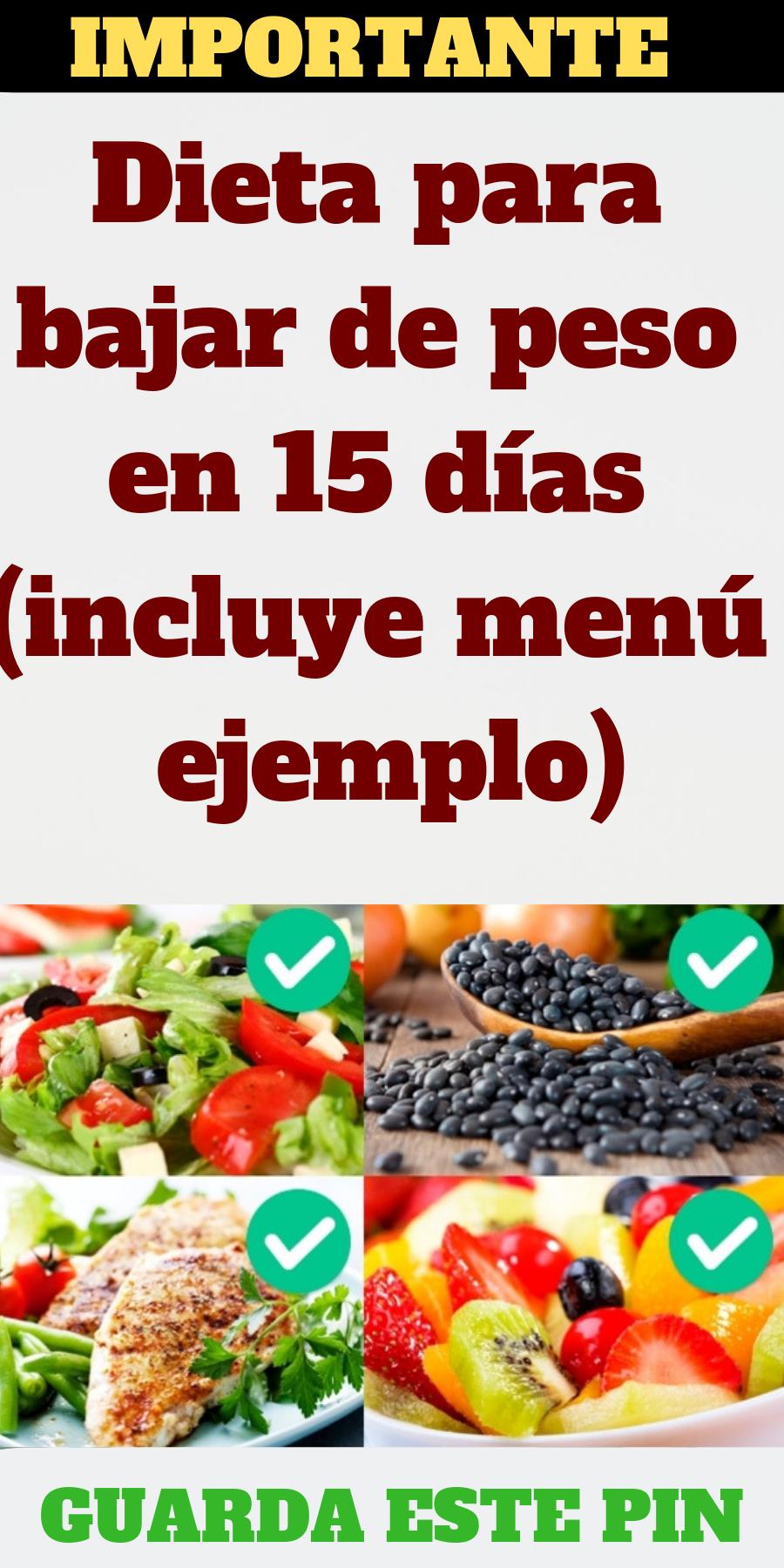 Ejemplos de menus de dietas para bajar de peso