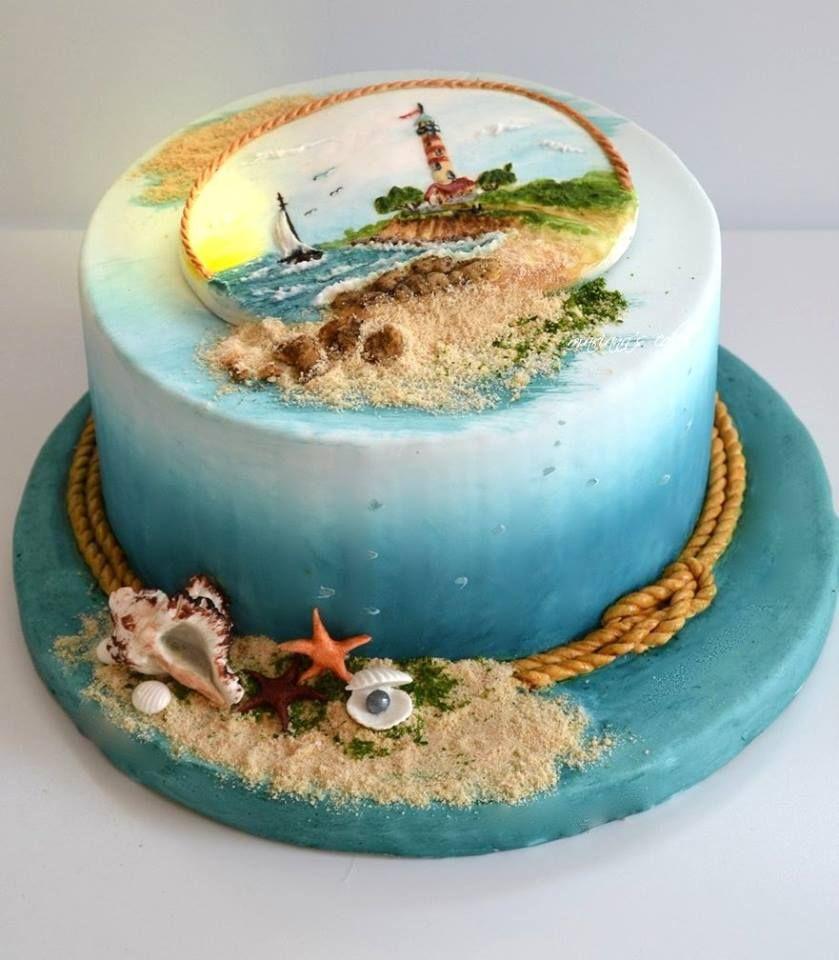 торт с морем и пляжем фото нее была долгая