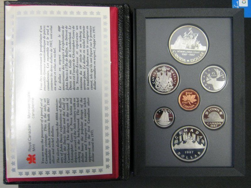Royal Canadian Mint 1987 Proof Coin Set with Case