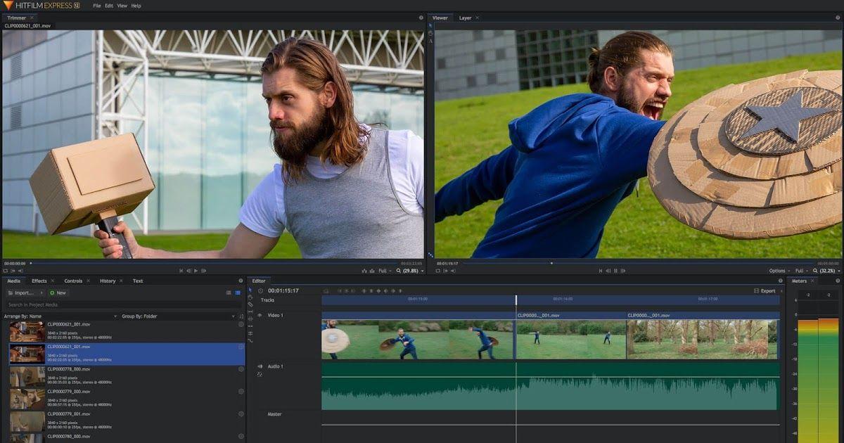 تحميل افضل واسهل برنامج مونتاج للمبتدئين Hitfilm Express 2020 للكمبيوتر In 2020 Free Photo Editing Software Video Editing Software Free Video Editing Software