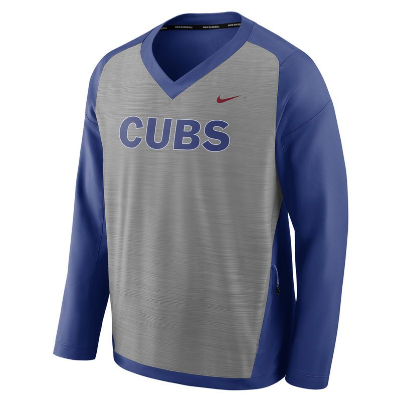 huge selection of fdf24 e18f6 Chicago Cubs Nike Performance Pullover Windshirt - Gray ...