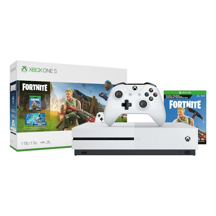 Microsoft Xbox One S 1tb Fortnite Bundle With 4k Ultra Hd Blu Ray Xbox One S 1tb Xbox One S Xbox One Console