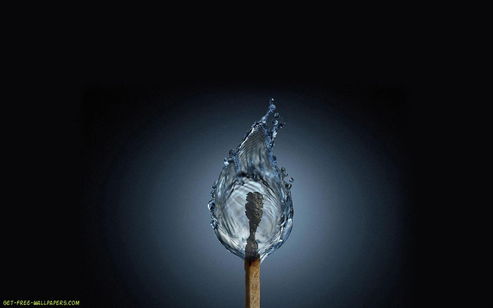 Awesome Fire Water 3D U0026 Digital Art Wallpaper   HD Wallpapers Download