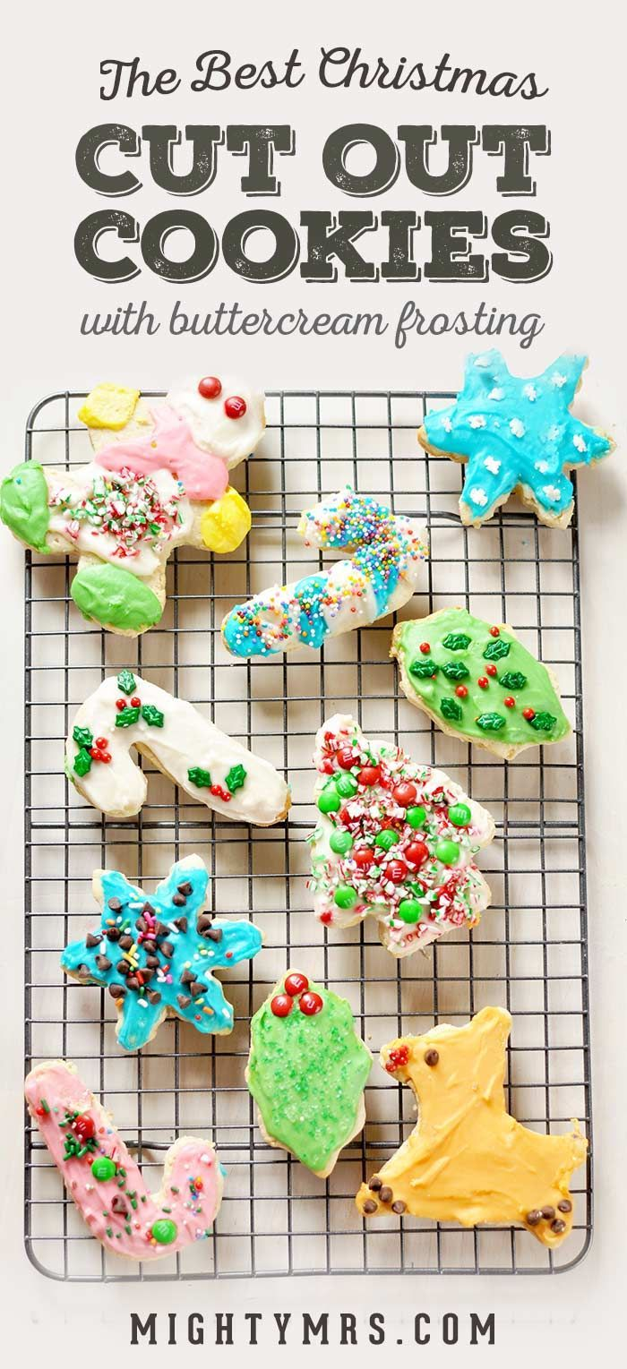 Christmas Cut Out Cookies.Christmas Cutout Cookies With Buttercream Frosting