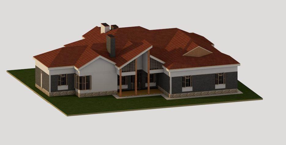4 Bedroom Bungalow House Plan In Kenya Muthurwa Com In 2020 Bungalow House Plans House Plans Bungalow