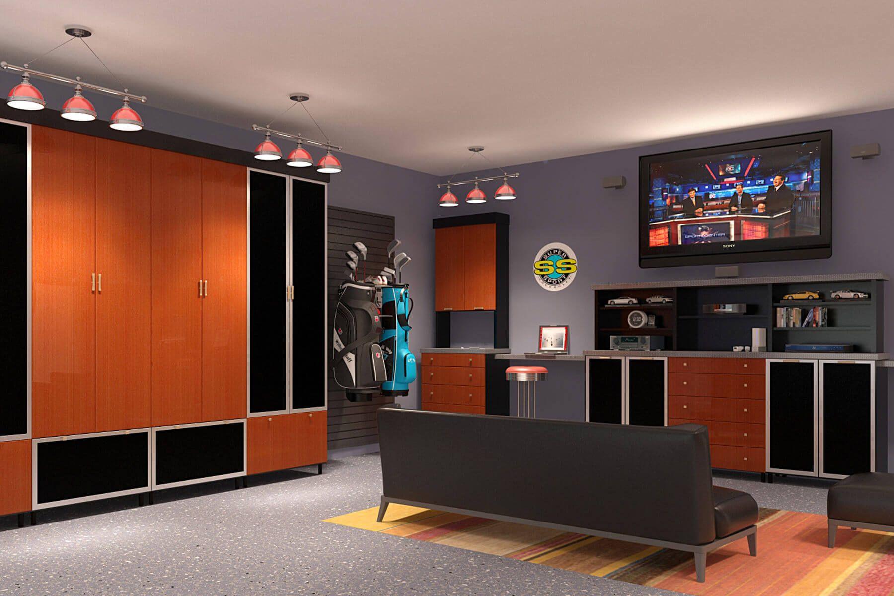 29 Garage Storage Ideas Plus 3 Garage Man Caves Man Cave Garage Garage Systems Garage Design