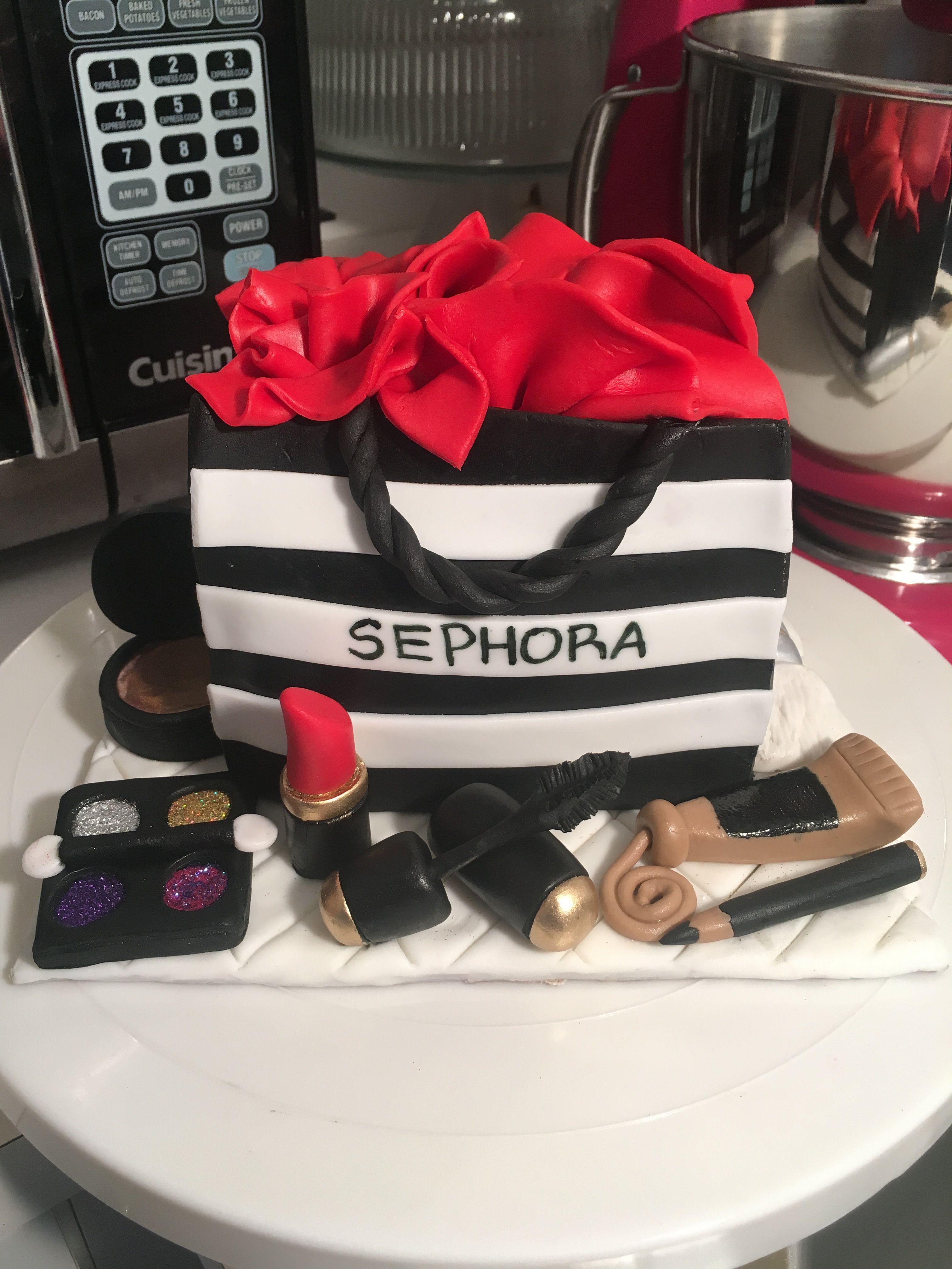 Sephora Bag Birthday Cake Sweet 16 33rd 21st Cakes