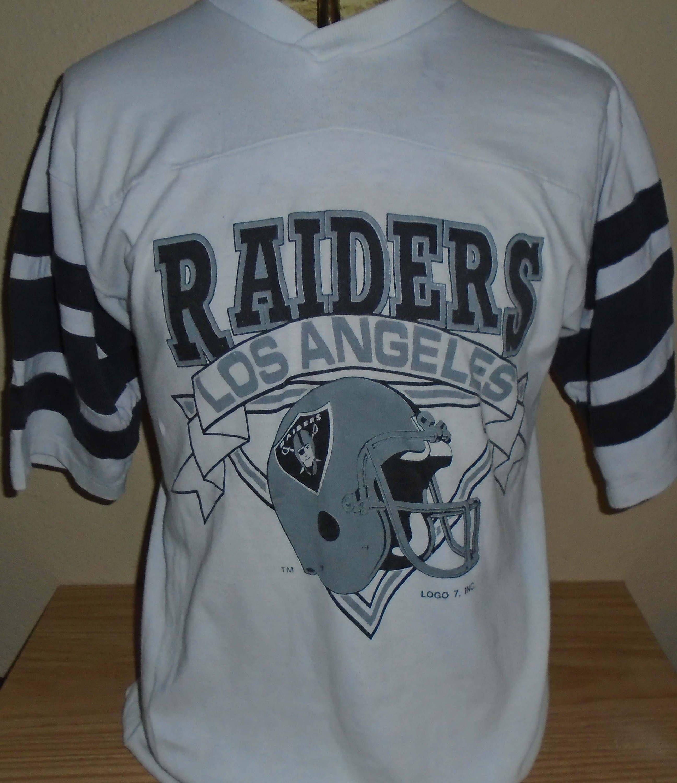 Vintage Los Angeles Raiders Jersey T Shirt Large By Vintagerhino247 On Etsy Raiders Shirt Vintage Los Angeles Raiders