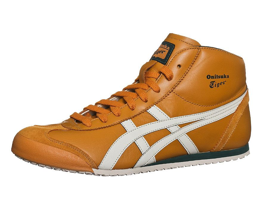 onitsuka tiger mexico mid runner blackyellow leather trainers