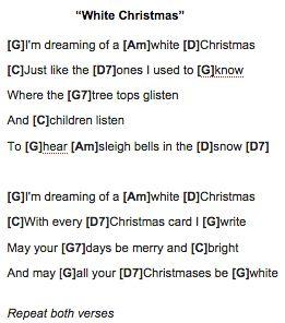 white christmas christmas ukulele chords