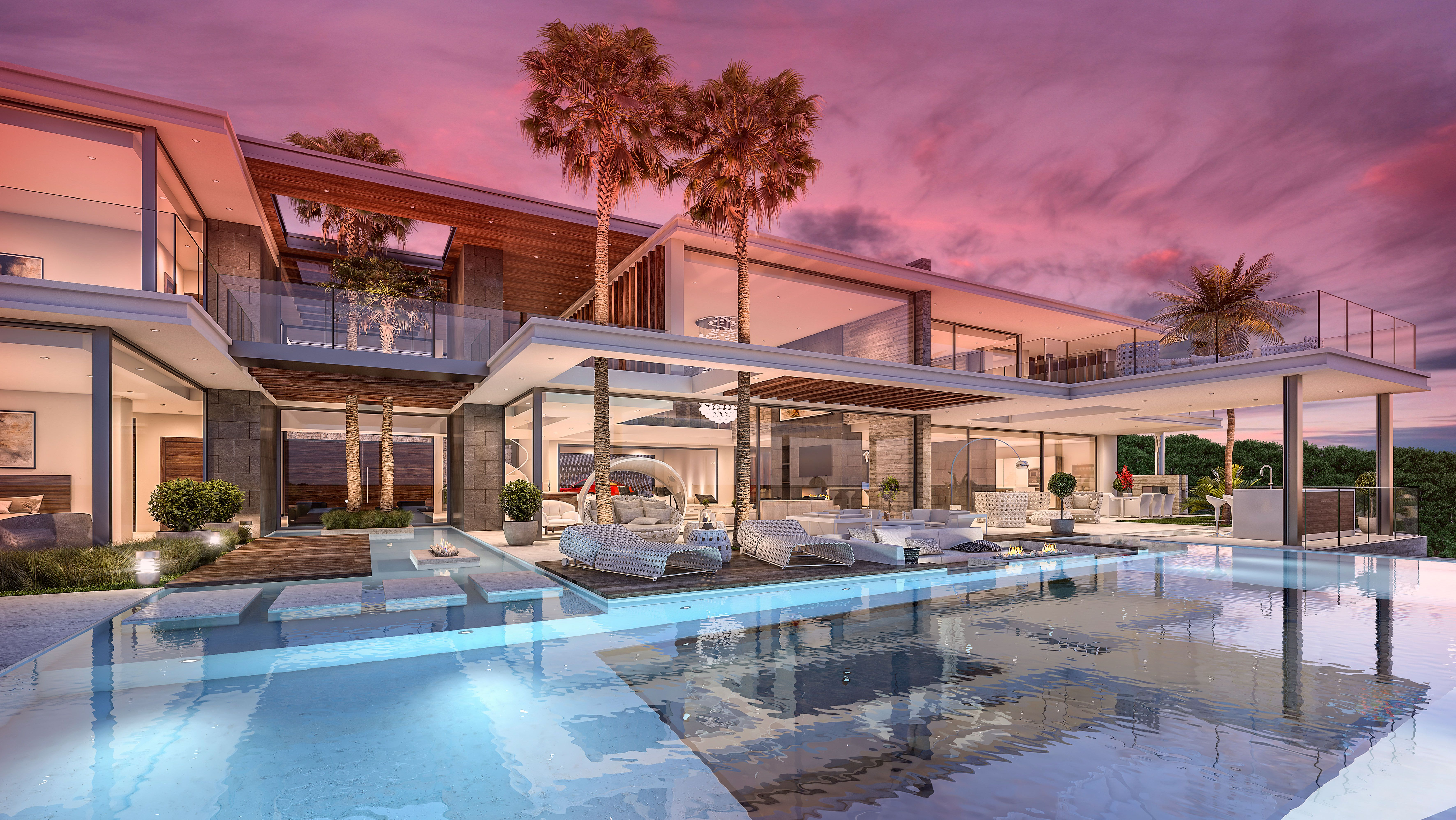 Luxury Modern Villa For Sale In La Zagaleta Marbella Designed By Kristina O Brateng And Develope Luxury Homes Dream Houses Modern Mansion Architecture House